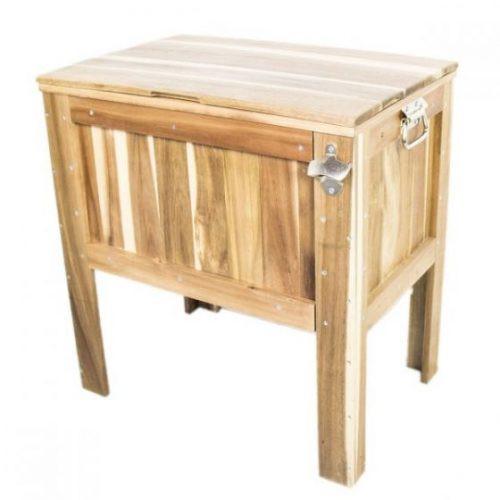 Wooden American Red Cedar Outdoor Patio Cooler